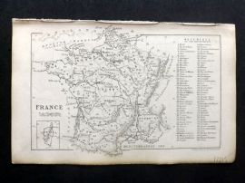 Cornwell & Dower 1849 Antique Map. France